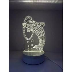LAMPARA NOCTURNA FORMA MEDUSA 3D 5W