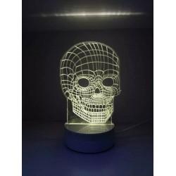 LAMPARA NOCTURNA FORMA CRANEO 3D 5W