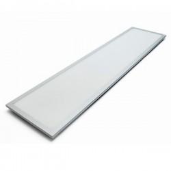 Panel LED Slim 48W 120x30cm Marco Plata Luz Fría y Neutra 4200lm