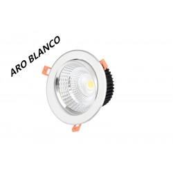 Foco Downlight LED Aro Blanco 7w 6000k 4000k 3000k Fría Neutra y Cálida