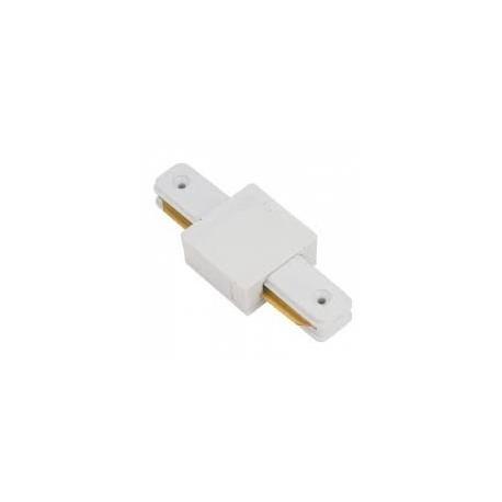 Conector lineal para unir y alimentar eléctricamente dos tramos de carril. DOS MODELOS: TIPO I  Y TIPO L