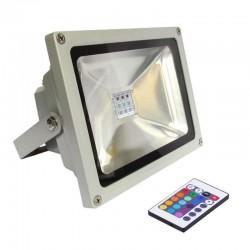 PROYECTOR LED RGB EXTERIOR UNIVERSAL , A 220V DIRECTO CON MANDO DE CONTROL PARA LOS COLORES, DOS POTENCIAS  30W Y 50W