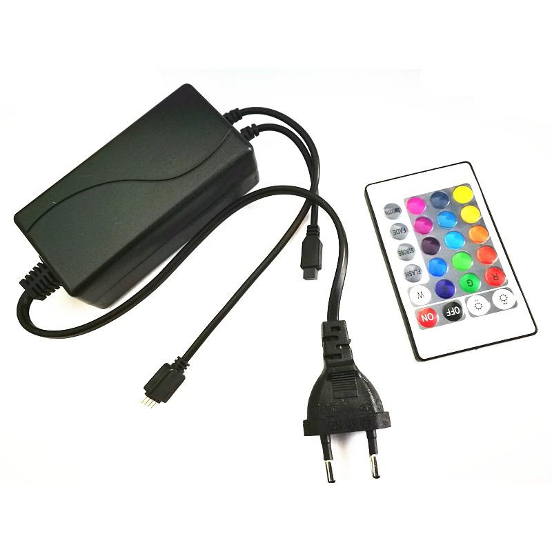 Transformador con mando 12v para control tiras led rgb for Transformador led 12v