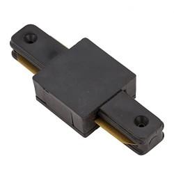 Conector para unir y alimentar eléctricamente dos tramos de carril Monofásico Tipo I negro