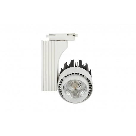Foco de Carril LED 30W G8001 Monofásico 6000K,4000K,3000K Luz Fría, Neutra y Cálida