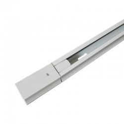 Carril Monofásico para focos de led blanco 1m o 2m aluminio