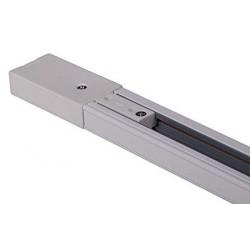 Carril Monofásico 2m para focos de led blanco aluminio Espesar rectangular
