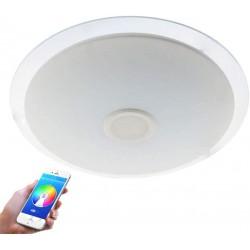 Plafon con altavoz LED Lámpara de Techo con Altavoz Bluetooth 24W,APP + Mando a Distanci